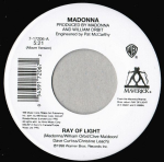 "RAY OF LIGHT / HAS TO BE - USA 1998 7"" VINYL"